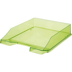 6 x Han Briefablage C4 Standard grün transparent