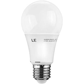 LE 9,5 Watt Dimmbare A60 E27 LED-Lampe, ersetzt 60 Watt Glühlampe , warmweiß, E27 LED Leuchtmittel