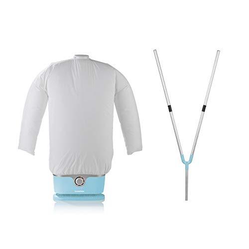 CLEANmaxx Bügler Set Hellblau für Hemden & Blusen 1800W + Bügler-Aufsatz für Hosen