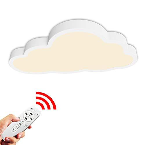 36W Lámpara de techo, Luz de techo LED, Regulable con control remoto, Forma de nube 5cm de espesor...
