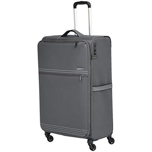 AmazonBasics - Trolley da viaggio morbido e leggero, 81 cm, Grigio