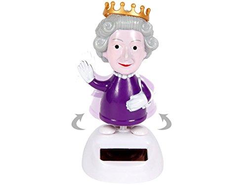 Figurine reine queen (57/9746) se balance à l'énergie solaire type Nohohon balancier deco voiture maison terrasse jardin jouet cadeau décoratif original décoration sympa jouet idée cadeau noel fin d'année anniversaire grande-mère