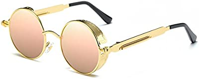 Sun Air Mujer Redondas Gafas de Sol Polarizadas Estilo John Lennon Retro Espejadas Lentes Marco Metálico