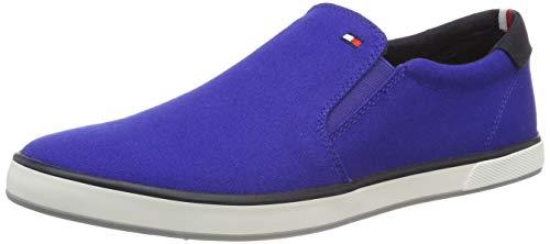 Tommy Hilfiger Herren Iconic Slip On Sneaker, Blau (Mazarine Blue 440), 42 EU Herren Schuhe Slip-ons
