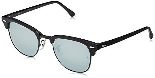 Ray-Ban Unisex-Erwachsene Sonnenbrille Clubmaster, Schwarz (Black), 51