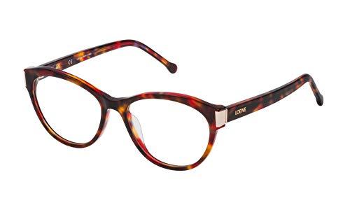 Loewe Unisex-Erwachsene VLW977M5307TR Brillengestelle, Mehrfarbig (Brown Hav/Yellow/Sh.Red), 55