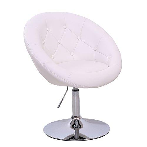 Lounge Sessel Havanna Clubsessel Barhocker Cocktailsessel Drehsessel (Weiß)