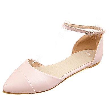 Sandali Primavera Estate Autunno scarpe Club PU Office & carriera parte & abito da sera tacco piatto fibbia Blushing Pink