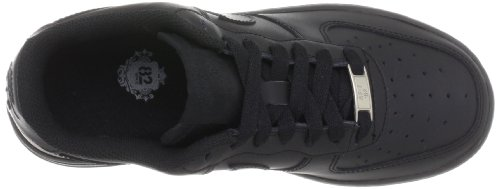 Nike  AIR FORCE 1 (GS), Sneakers Basses mixte enfant Noir (Black/Black-Black)