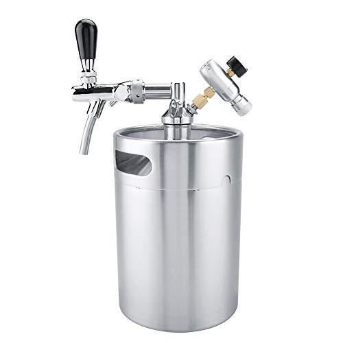 Mini-Fass-System, 5-l-Mini-Edelstahlfass mit Unter Druck Stehendem Wasserhahn
