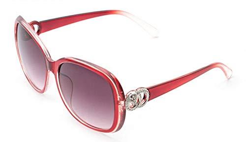 Daesar Transparent Rot Sonnenbrille Trend Damen mit Harz Linse Sonnenbrille Outdoor Damen