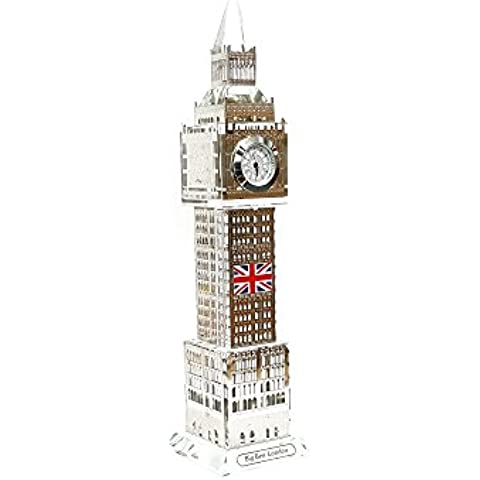 Ornament Londra Big Ben Tower Souvenir Regalo di natale in metallo colore argento 23cm by gr8vape