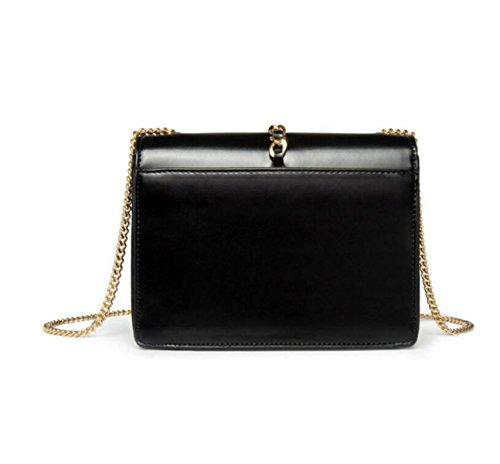 Chain-Typ Messenger Bag-Typ Magnetischen Wölbung Damen Handtasche Umhängetasche Quadratisch Green