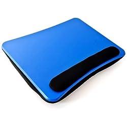 Relaxdays Support Genoux Ordinateur Portable Coussin ergonomique Amovible poignée pour tablette 44 x 34 x 5 cm, bleu