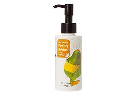 The Face Shop - Smart Peeling Mild Papaya Peeling - Mildes Gesichtspeeling mit Papaya für Männer und Frauen - Gesichtsreinigung Unisex mit Alkohol - Gesichtsreinigung und Peeling - Reinigungsmilch und Cremes für das Gesicht - Make-up Entferner für trockene / sensible / normale / fettige Haut