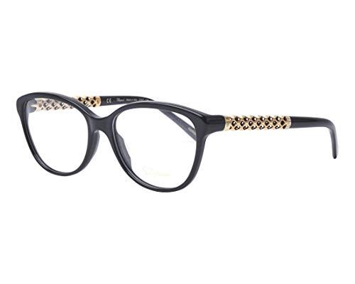 Chopard Brille (VCH-182-S 0700) Acetate Kunststoff - Metall glänzend schwarz - gold