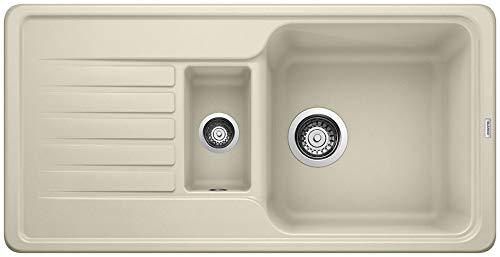 """Blanco Favos 6 S, Küchenspüle aus Silgranit, Jasmin, reversibel / mit 3 1/2\"""" und 1 1/2\"""" Korbventil - ohne Ablauffernbedienung; 521417"""