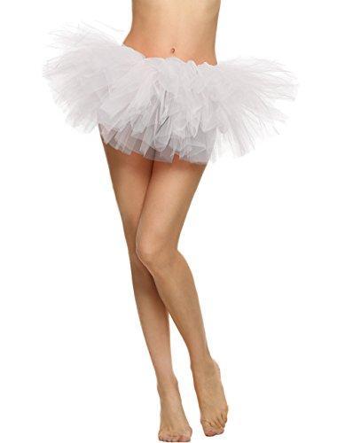 Butterme Frauen 5 Layered Tutu Rock Ballett Tutu kurze Vintage Petticoat Rock Ballett ()