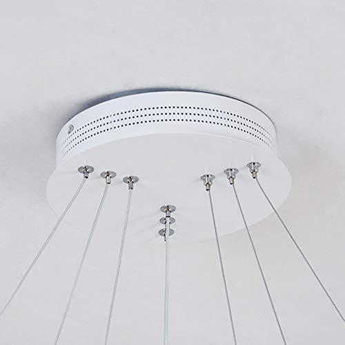 Moderne led kronleuchter ring glanz beleuchtung mit fernbedienung aluminium lampen für esszimmer schlafzimmer restaurant avize leuchten, 2 ring 20 40 cm, warmweiß -
