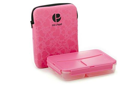 Boîte à repas avec 3 compartiments et sac isotherme, Sans BPA, Parfaite pour les enfants - Idéal pour le micro-onde, lave-vaisselle, congélateur