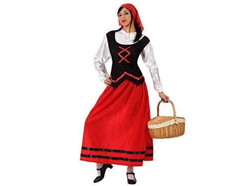 Atosa-50851 Disfraz Pastora Mujer Adulto-Tal, Color Rojo, M/L (50851)