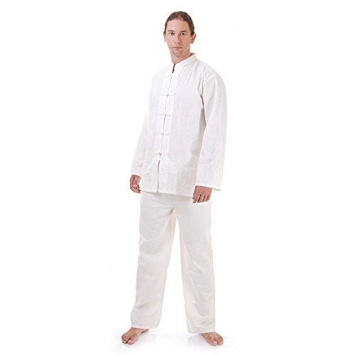 Kung Fu, Tai Chi & Meditations Anzug Baumwolle Größe L Weiß