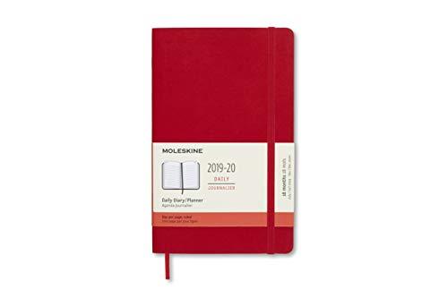 Moleskine 8058647628646 - Agenda 18 mesi 2019/2020, formato A5, copertina morbida, colore: Rosso scarlatto