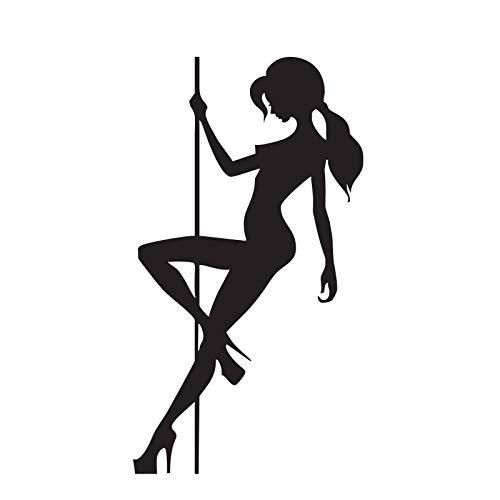 yiyiyaya Party Mädchen Spielen Pole DanceWandaufkleber SteuernDekor Wohnzimmer Bar Wand Dekorative Aufkleber VinylWandtattoos 44 * 80 cm