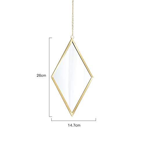 Dekorative Spiegel, billige dekorative Spiegel, Nordic Metal Gold Spiegel Wand Hangind Badezimmer Schlafzimmer Spiegel Eitelkeit dekorative Make-up Home Dressing hängenden Spiegel (Color : Gold) (Gold-eitelkeit-wand-spiegel)