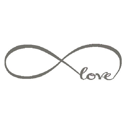 Sodialr Wall Decal Of Love Personalized Infinity Symbol Bedroom
