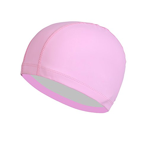 Solid Color Men Frauen Elastisches Schwimmerkappe Long Hair Ear Protector Swim Hut -
