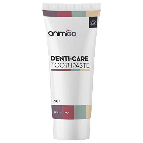 Animigo Denti-Care Zahnpasta für Hunde und Katzen, Für gesunde Zähne & Zahnfleisch bei Katze & Hund, Premium Zahnpflege Paste, Zahnreinigung gegen Mundgeruch & Zahnstein, Dental Clean - 70g Zahncreme