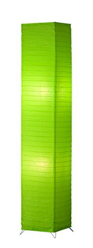 Papier Stehleuchte, 2xE27 maximal 60 W ohne Leuchtmittel, 130 cm, grün, R40122015