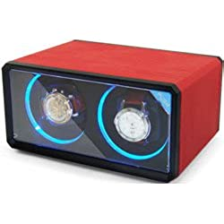 Time Tutelary automatischer Uhrenbeweger KA076RED, PU-Leder –Rot