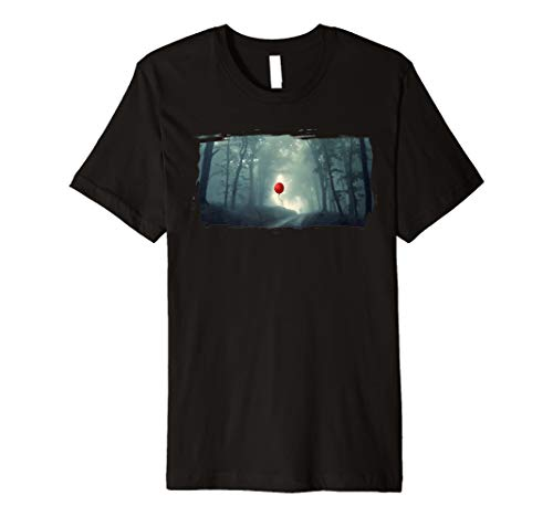 (Creepy Halloween rot Ballon in the Woods T-Shirt)