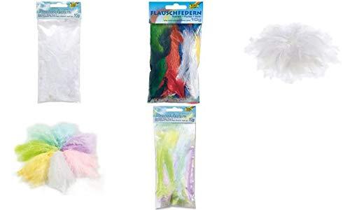 Folia NEU Flauschfedern, Pastellfarben-Mix, 10 g (Kreative Beschäftigung Kostüme)