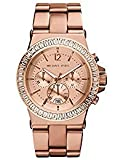 M.k montre femme Or rose diamant chronographe