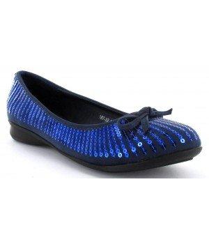 Yaalah - Ballerines bleu à paillettes - 187-33-7 Bleu