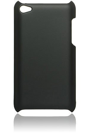 PES Rubberised Matte Hard Back Case Cover For Apple iPod Touch 4th Generation - Black