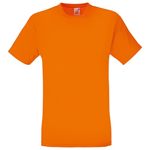 Fruite of the Loom Original T-Shirt aus Baumwolle, vers.Farben Orange