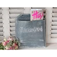 Zinco Metal Magazine Giornale Rack titolare della posta-lettere carrello Vintage Shabby bagagli