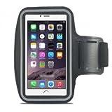 IDACA Schwarz Gym Jogging Sport Armband Hülle für iPhone 6 4.7 Inch/iPhone 6s 4.7 inch Armbandtasche iPhone 6/iPhone 6s 4.7 Inch Armband schützt Ihr Handy vor einer strengen hardcore Training, so dass Sie Ihr Handy in gutem Zustand zu halten M...