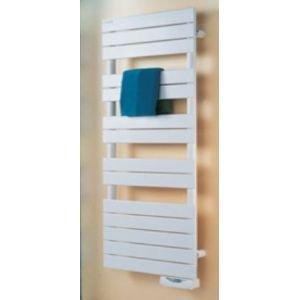 Radiateur séche-serviettes REGATE électrique avec fonction timerprog 1000w haut 1676 larg 500 blanc réf TSX-100-050