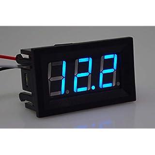 ARCELI Micro Voltmeter 0,56 Zoll Digitale spannungsprüfer 2 Linie DC 7-99,9 V Power Monitor Batterie Tester Panel Meter für Auto Automobil und Motorrad Fahrzeuge (blau)