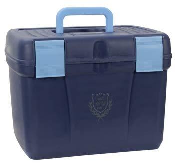 PFIFF 101562-43-2 Putzkiste Putzbox für Pferde stabil groß, L, blau-hellblau