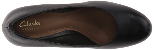 Clarks Jenness Ruhm-Plattform-Pumpe Black Leather