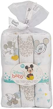 Interbaby MK018 - Pack 3 Gasas Disney Mickey Mouse