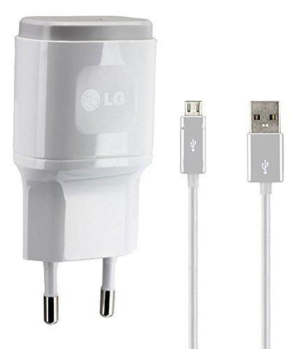 LG Original Lade-/Datenkabel 2.0 USB Netzteil 1,8A, 1800mAh Ladegerät Aufladekabel Travel Charger Micro-USB LGLW1 für G2/G3/G4 weiß (Lg G3 Bei T-telefon)
