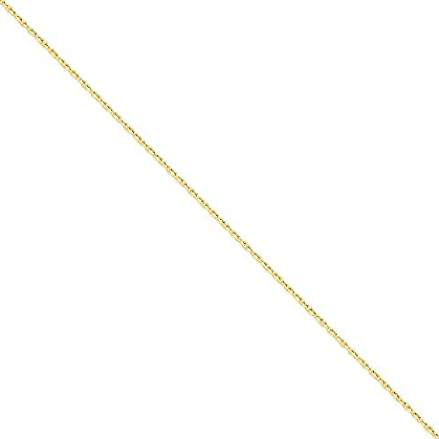 14ct Gold 1.8mm Diamond-Cut Cable Chain Necklace - Lobster Claw - 61 Centimeters
