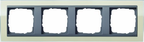 Price comparison product image GIRA 0214778Covering Frame 4-Hole for Anthracite Gira Event Klar Sand